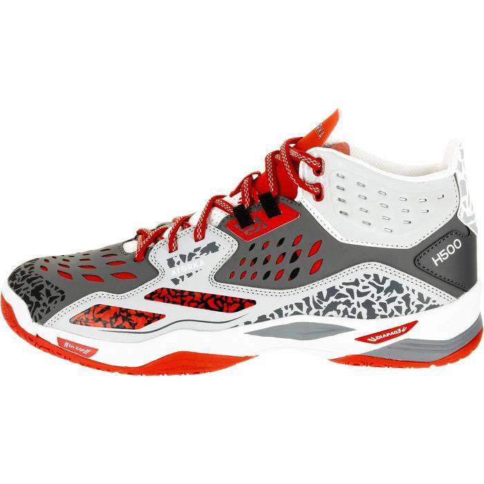 Chaussures de handball Mid femme grises et roses - 1309001