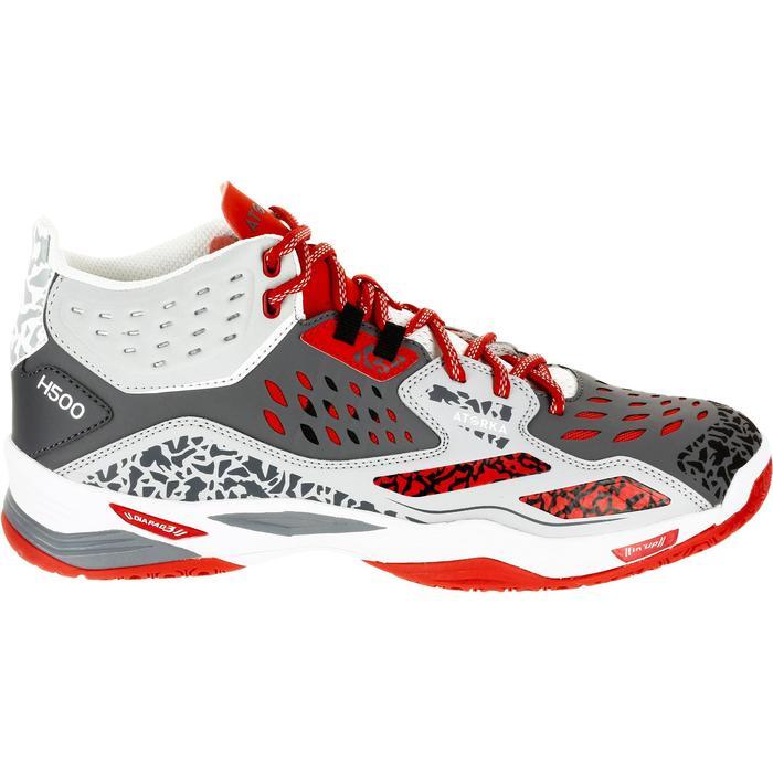 Chaussures de handball Mid femme grises et roses - 1309003