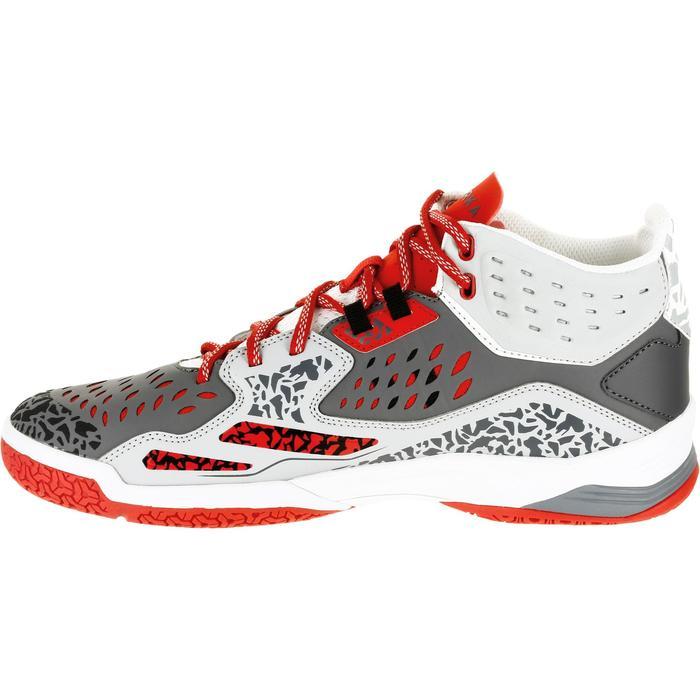 Chaussures de handball Mid femme grises et roses - 1309005