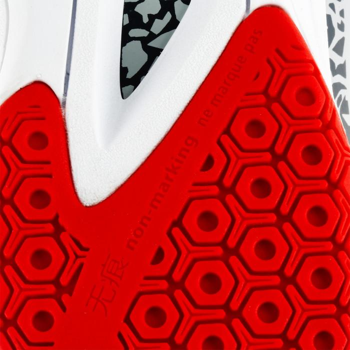 Chaussures de handball Mid femme grises et roses - 1309006