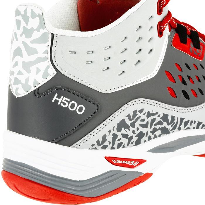 Handballschuhe H500 Mid Herren grau/rot