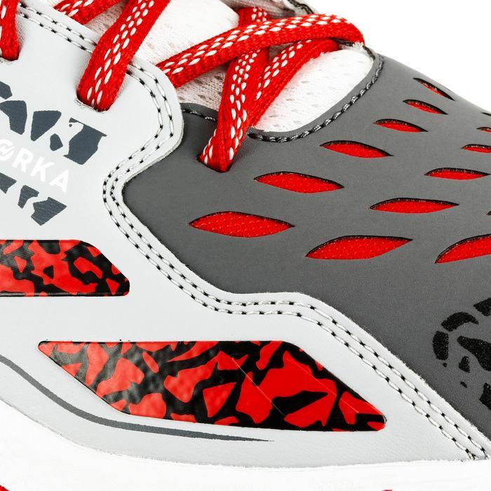 Chaussures de handball Mid femme grises et roses - 1309009