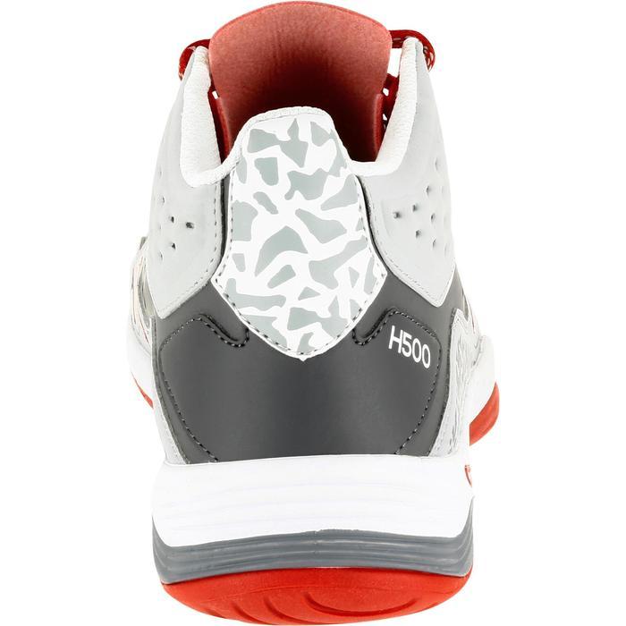 Chaussures de handball Mid homme grises et rouges