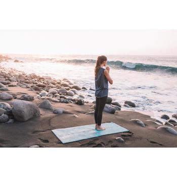 T-Shirt sans manches yoga femme chiné - 1309019