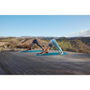 7/8-Leggings nahtlos Yoga+ 500 Damen blau
