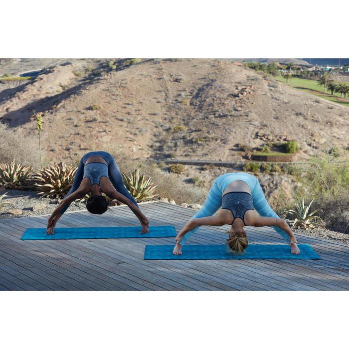 Leggings YOGA+ transpirables mujer estampado azul claro