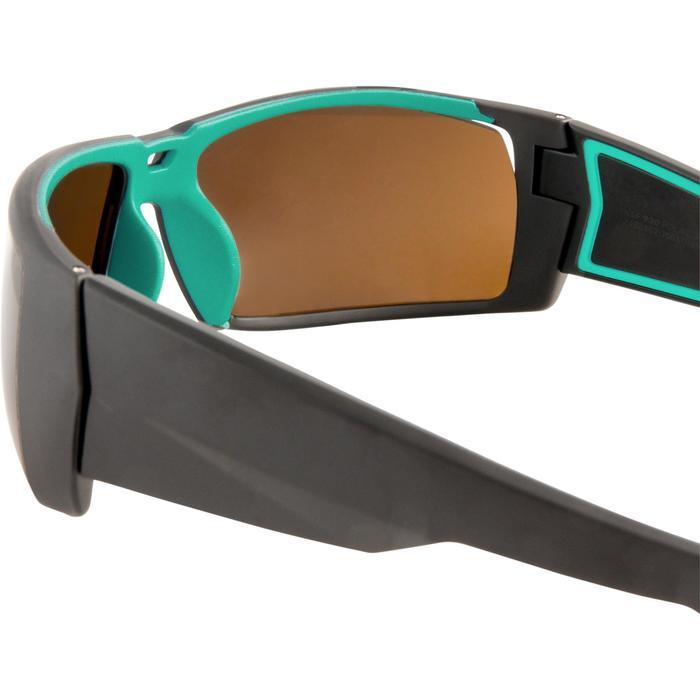 ff2c446491b642 Zonnebril kitesurf 900 - gepolariseerd - cat. 4 - zwart turquoise