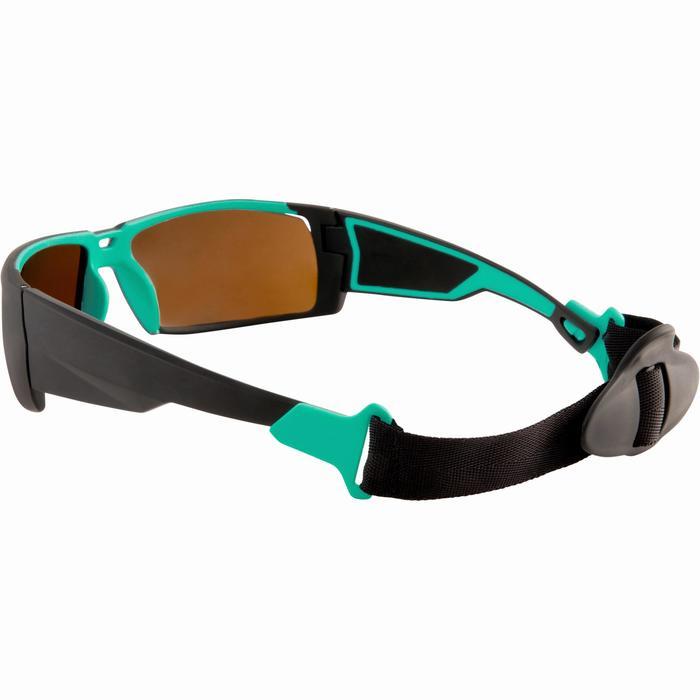 Kitesurfbrille 900 polarisierend Kategorie 4 schwarz/türkis