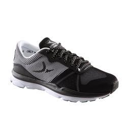 女款有氧健身運動鞋 500- 黑色/白色