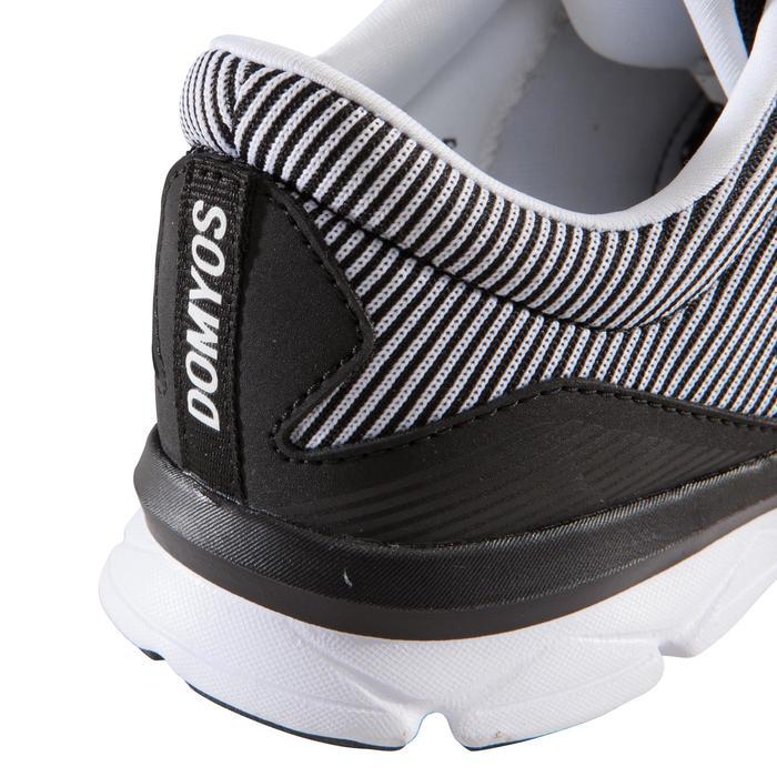 Zapatillas fitness cardio-training 500 mujer Negro y Blanco