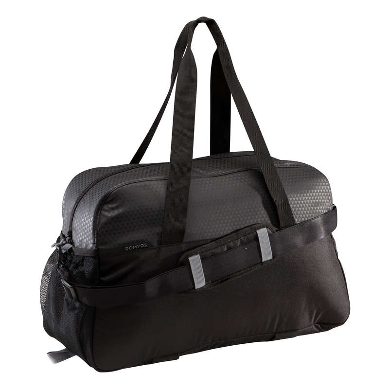 FITNESS CARDIO BAGS, ACCESS ALL LEVEL Fitness and Gym - Fitness Bag 30L - Black DOMYOS - Fitness and Gym