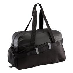 Fitnesstas cardiotraining 30 liter zwart met premium driehoek dessin