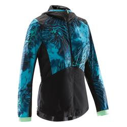 520 Women's Cardio Fitness Jacket - Navy Blue/Pink Print