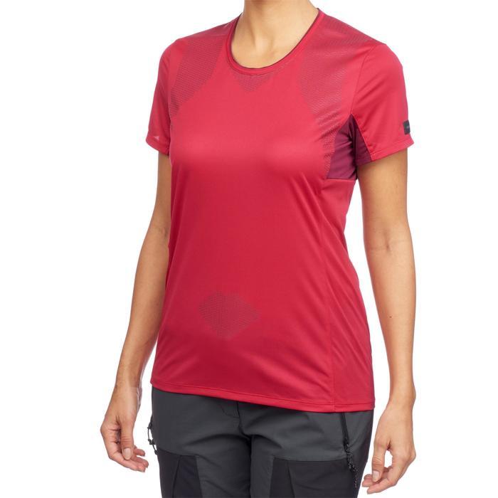 T-shirt manches courtes trekking montagne TREK 100 femme - 1309698