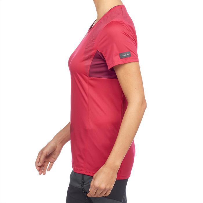 T-shirt voor bergtrekking Trek 100 dames roze