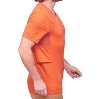 Men's TREK 100 short-sleeved mountain trekking T-shirt - Orange