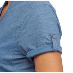 Polohemd Kurzarm Travel 100 Damen blau