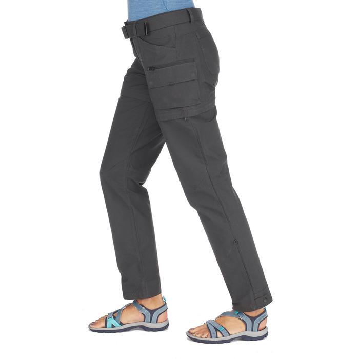 amplia selección nueva productos 100% de garantía de satisfacción Pantalón Desmontable de Montaña y Trekking Viaje Travel 500 Mujer Negro