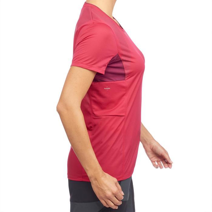 T-shirt manches courtes trekking montagne TREK 100 femme - 1309732