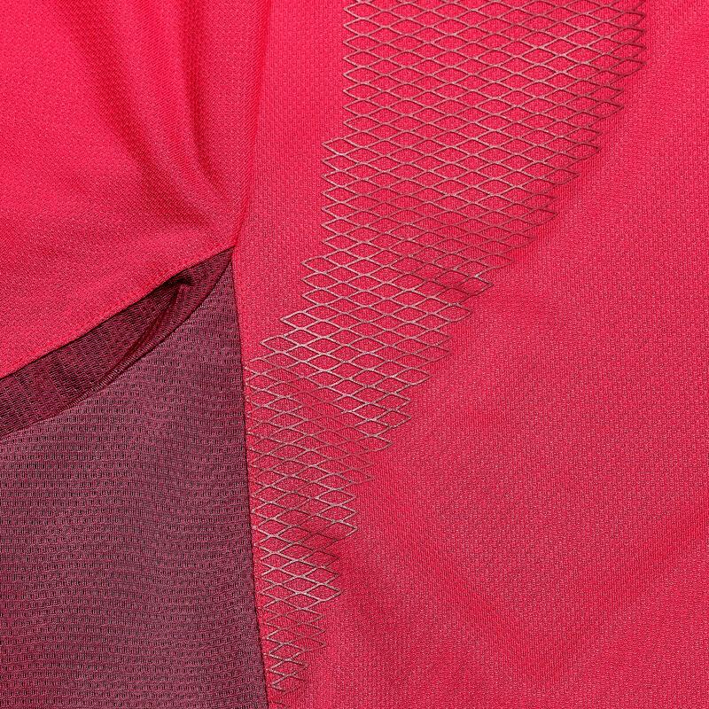 เสื้อยืดแขนสั้นสำหรับผู้หญิงใส่เดินเทรคกิ้งบนภูเขารุ่น Trek (สีชมพู)