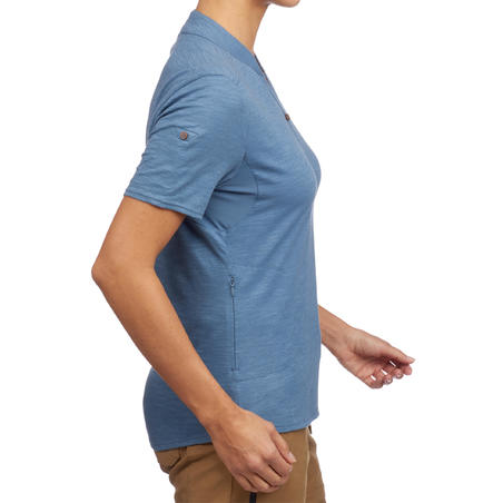 Travel100 Women's Short-Sleeve Trekking Polo Shirt - Blue