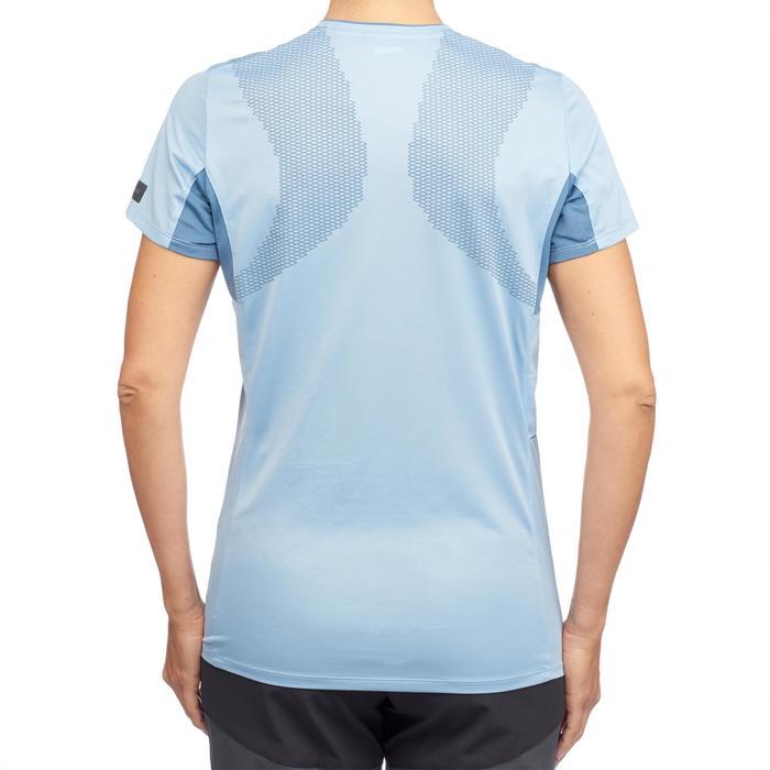 Trekkingshirt Trek 100 Damen blau