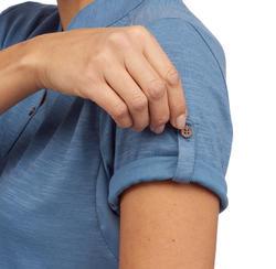 Travel100 Women's Short-Sleeve Trekking Polo Shirt - Blue