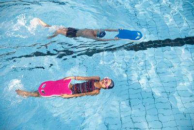 Maillot de bain de natation une piece fille Leony Plum bleu