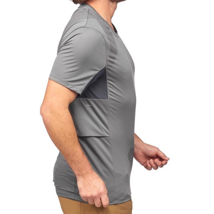 T-shirt manches courtes trekking montagne TREK100 homme gris