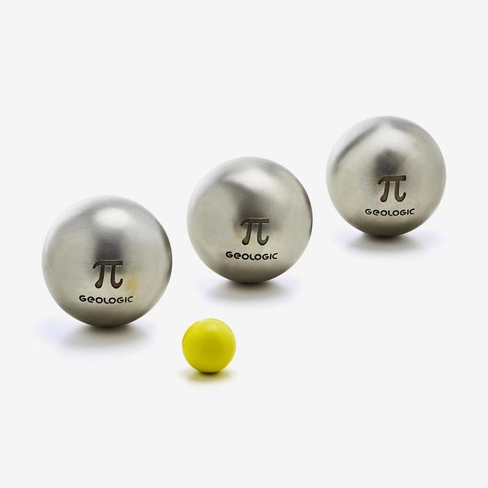 Boule de pétanque compétition demi tendre inox PI - 1309908