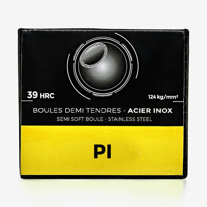 Boule de pétanque compétition demi tendre inox PI - 1309911