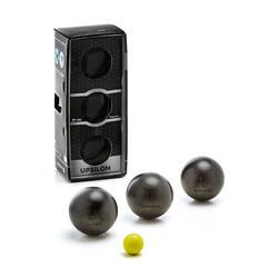3 zachte petanqueballen voor wedstrijden Upsilon