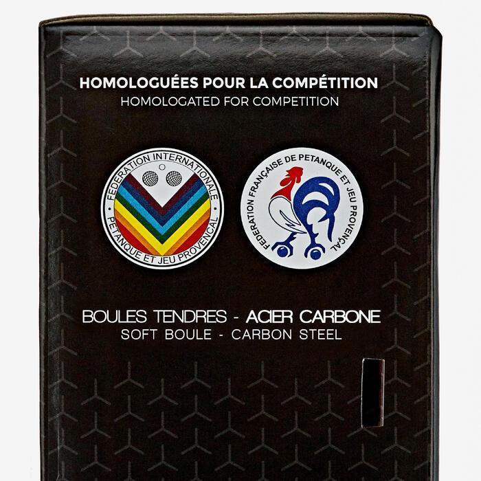 3 Soft Competition Petanque Boules