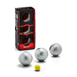 3 halfzachte petanqueballen voor competitie Delta