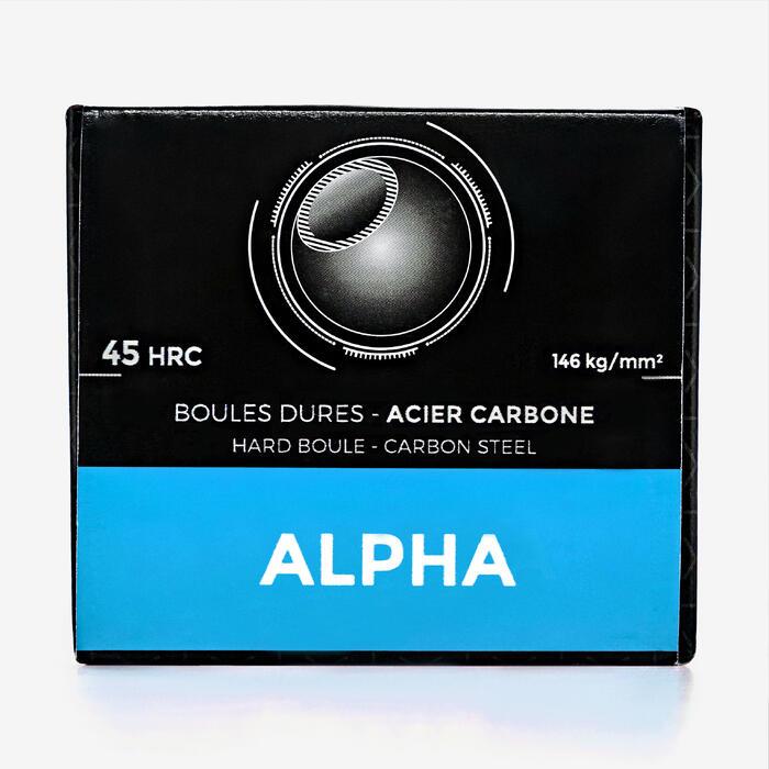 Boulekugeln Alpha glatt oder geriffelt Allroundkugeln Wettkampf 3 Kugeln hart