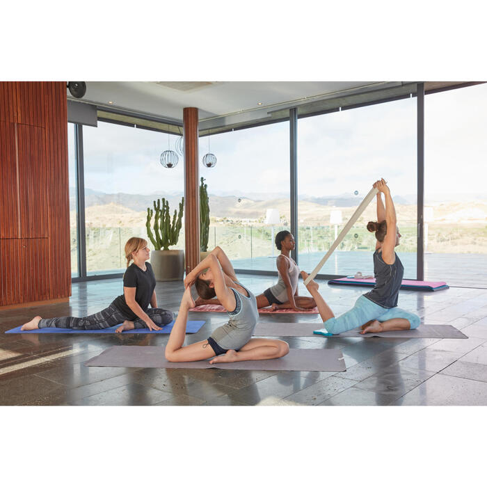Débardeur sans coutures Yoga femme gris/bleu
