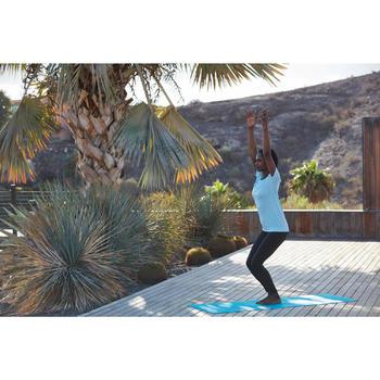 Camiseta de yoga sin costuras para mujer azul/gris
