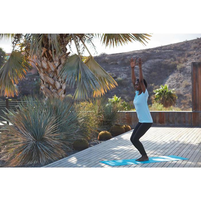 Naadloos dames T-shirt voor dynamische yoga zwart