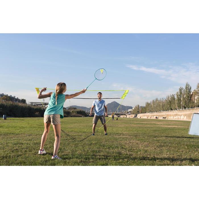 Badminton Easy-Set Discover mit Netz + 2 Schläger gelb