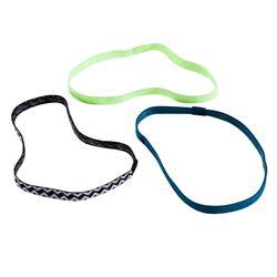 Elastische hoofdbanden (set van 3) cardiotraining dames groen, blauw en zwart
