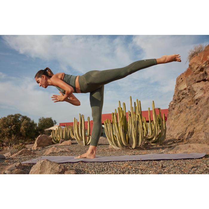 Naadloze 7/8-yogalegging voor dames kaki