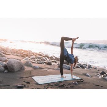 T-Shirt sans manches yoga femme chiné - 1310082