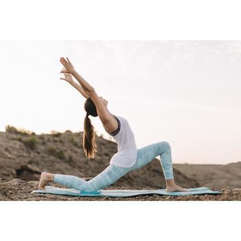 Leggings Yoga+ atmungsaktiv Damen himmelbau mit Aufdruck