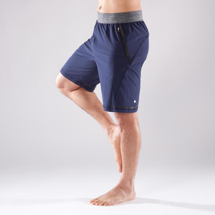 Pantalón Corto Deportivo Yoga Domyos Hombre Azul