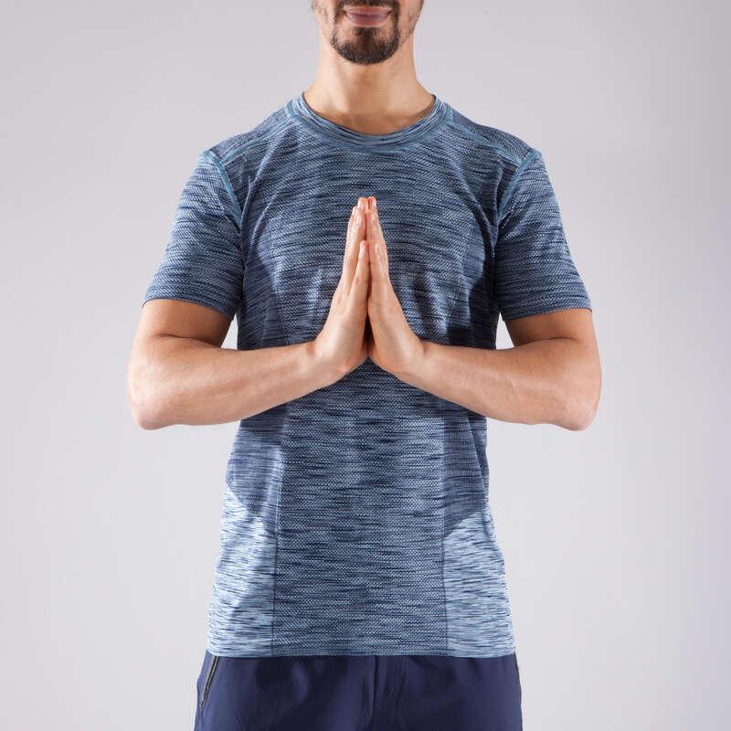 MAN YOGA APPAREL Clothing - Seamless Yoga T-Shirt DOMYOS - By Sport