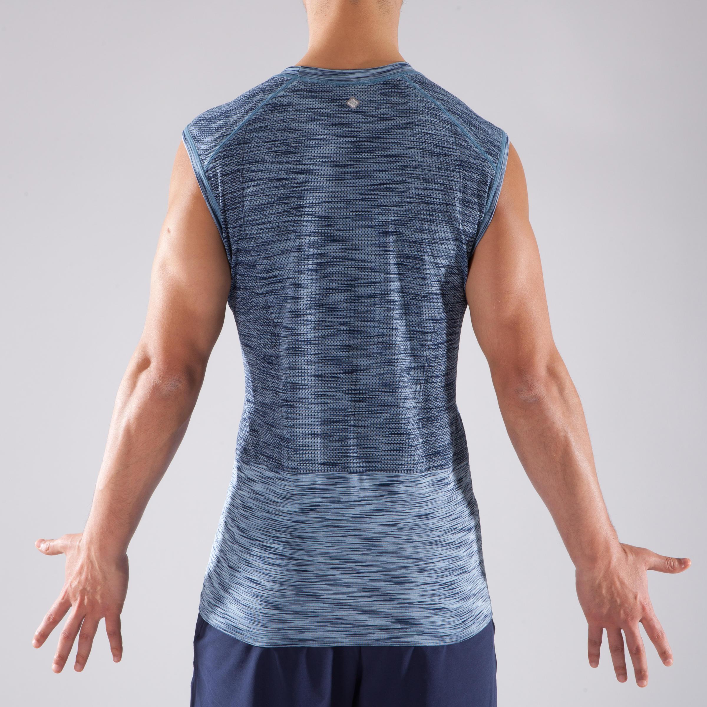 Seamless Yoga Tank Top - Black/Blue