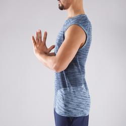 Top nahtlos Yoga Herren schwarz/blau