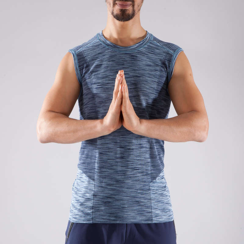MAN YOGA APPAREL Clothing - Seamless Yoga Top DOMYOS - By Sport