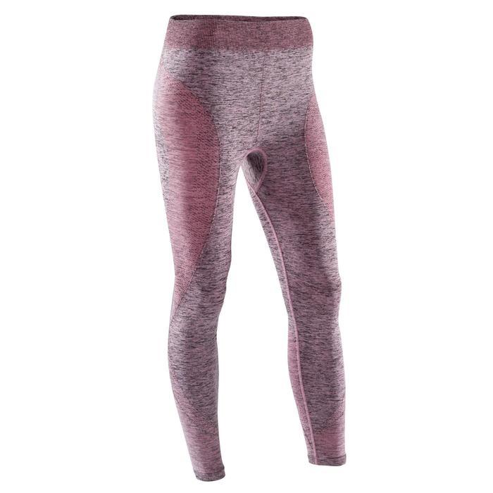 Legging YOGA sans coutures femme 7/8 chiné - 1310170