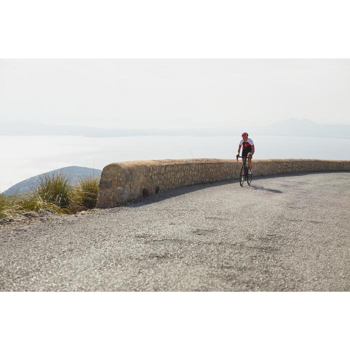 Kurzarm-Radtrikot Rennrad 900 Damen rot/blau/weiß
